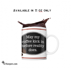 Ceramic Funny Coffee Mug Reality