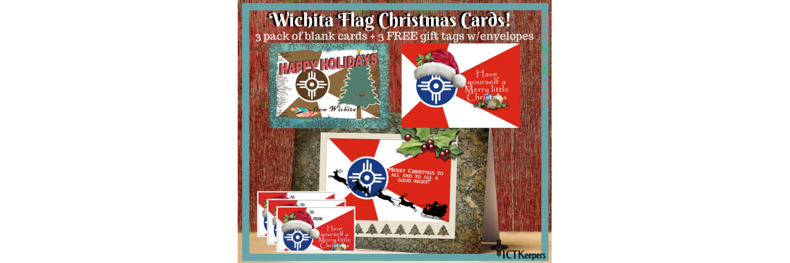 Christmas Cards with the Wichita Flag