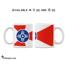 Ceramic Mug with Wichita City Flag
