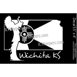 Keeper Wichita Flag Decal
