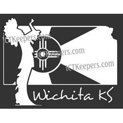 Keeper Wichita Flag Decal