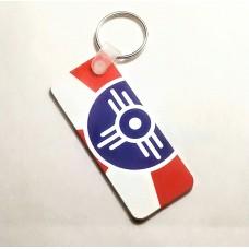 Wichita City Flag Key Fob and Ring