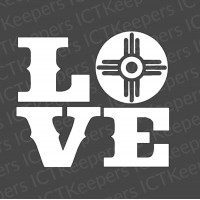 LOVE Wichita Flag Decal
