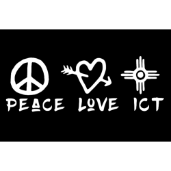 Peace Love ICT Decal