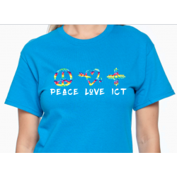 Peace Love ICT T-Shirt Wichita Kansas