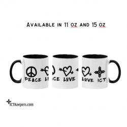Ceramic ICT Mug Peace Love