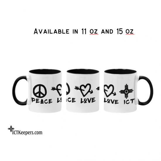 Ceramic ICT Mug Peace Love