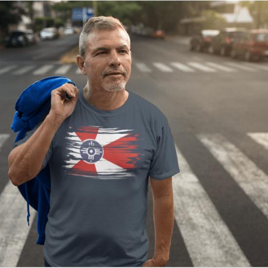 Wichita Ripped City Flag T-Shirt