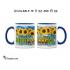 Ceramic Mug Kansas Sunflowers