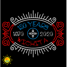 Wichita 150th Anniversary T-Shirt Neon