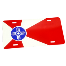Auto License Tag Wichita Flag