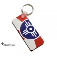 Wichita City Flag Key Fob and Ring