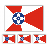Wichita Flag Decal Set of 4