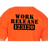 Personalized Funny Retirement T-shirt WORK RELEASE
